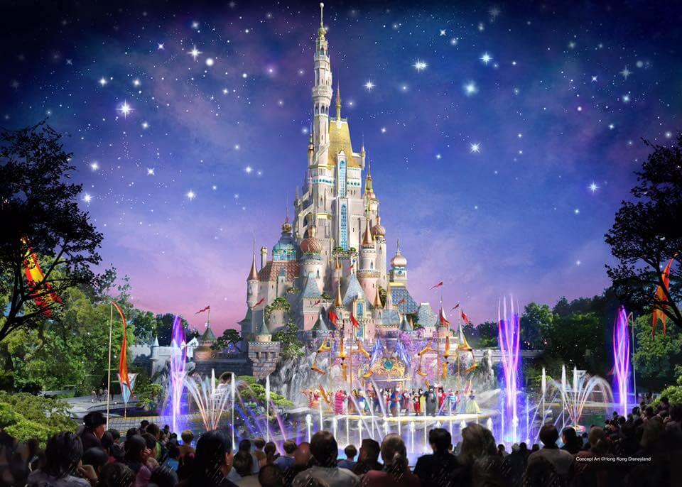 Concept Art zum neuen Schloss in Hongkong Disneyland