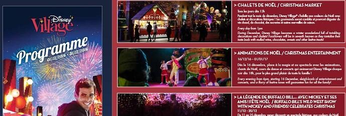Disney Village Programm für Dezember 2016