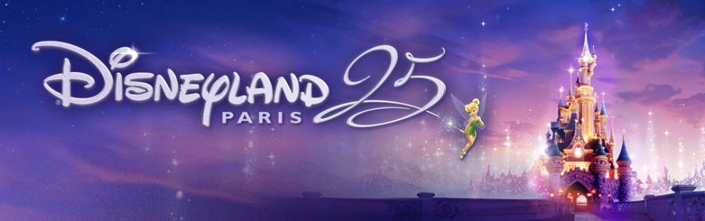 Grafik zu den Feiern zum 25. Geburtstag des Disneyland Paris