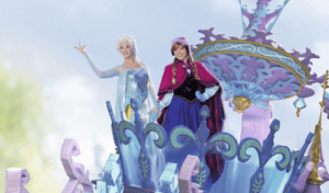 Anna und Elsa bei Disney Stars on Parade