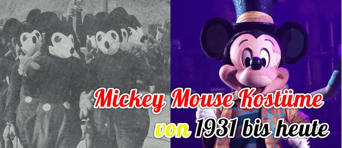 Die Entwicklung der Mickey Mouse Kostüme von 1931 bis 2017