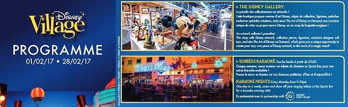 Programm im Disney Village im Februar 2017