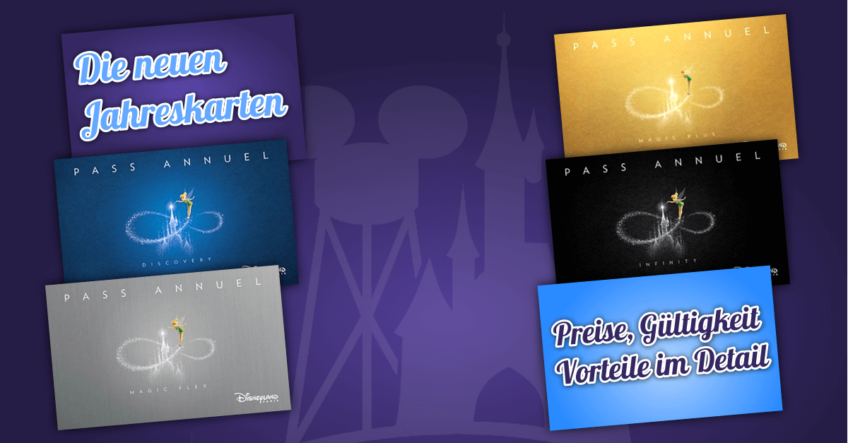 Ab 29. März gibt es neue Jahreskarten für das Disneyland Paris - hier sind alle Preise & Details