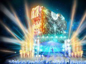 Electroland mit Projektionsshow am Tower of Terror