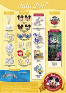 Neue Pins im Disneyland Paris im Juni 2017