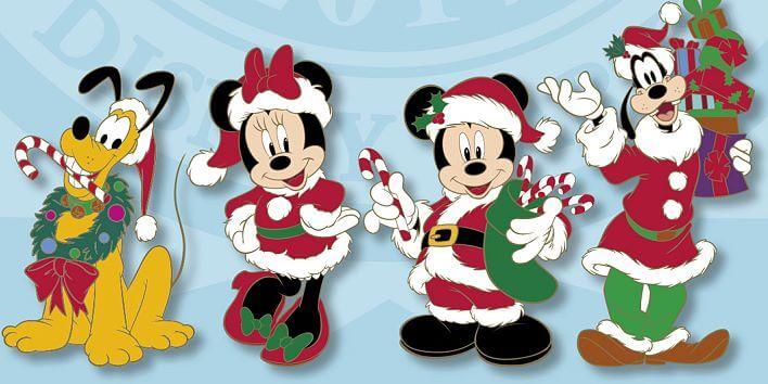 Neue Pins zu Weihnachten im Disneyland