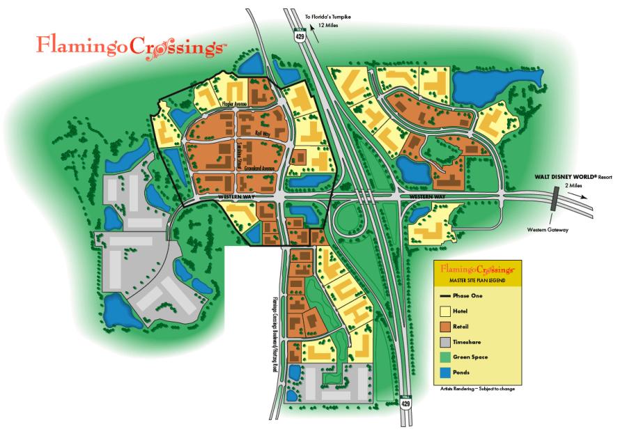 Der ursprüngliche Plan von 2007 zum Bau von Flamingo Crossings