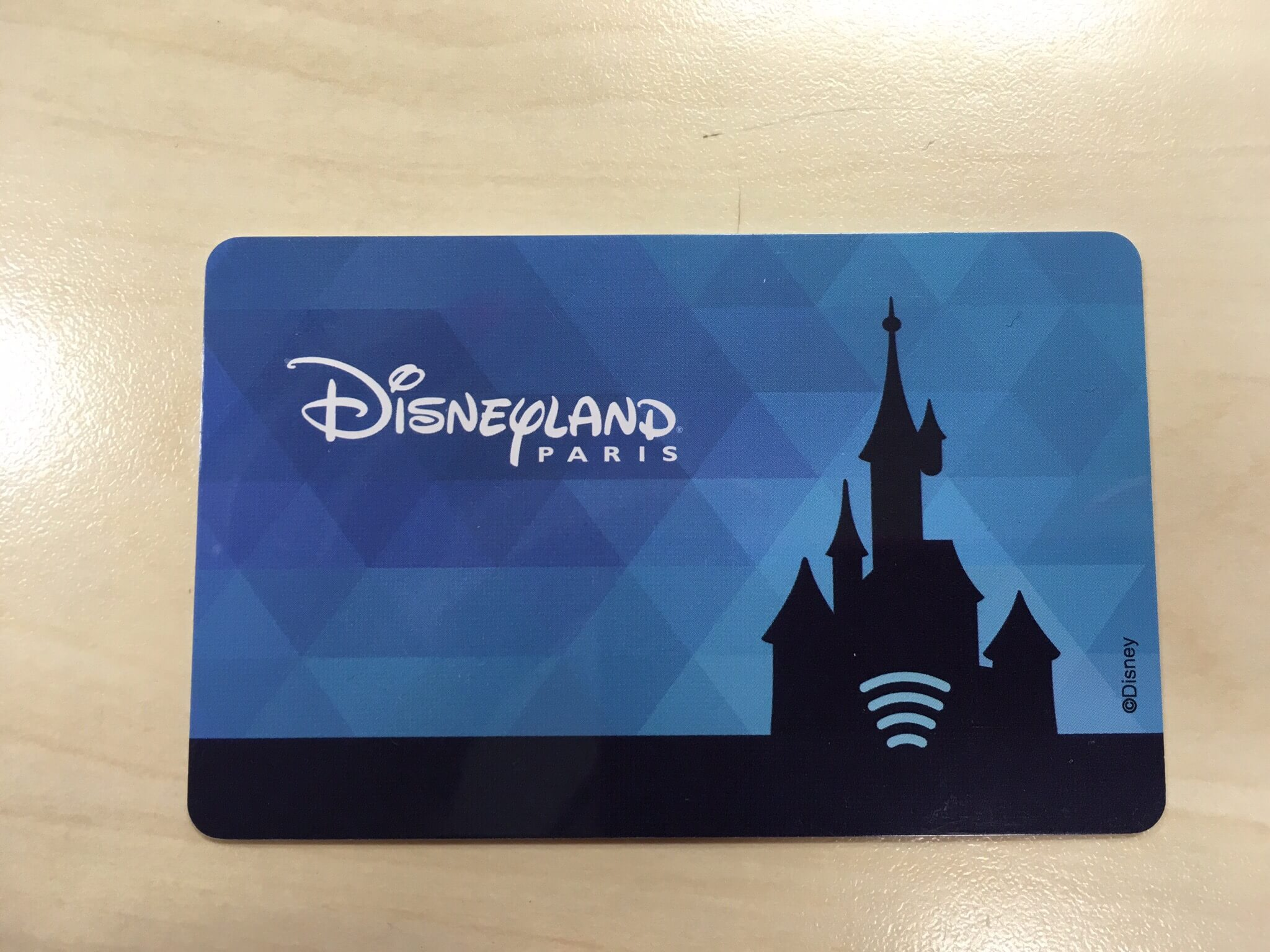 RFID Karte im Disneyland Paris