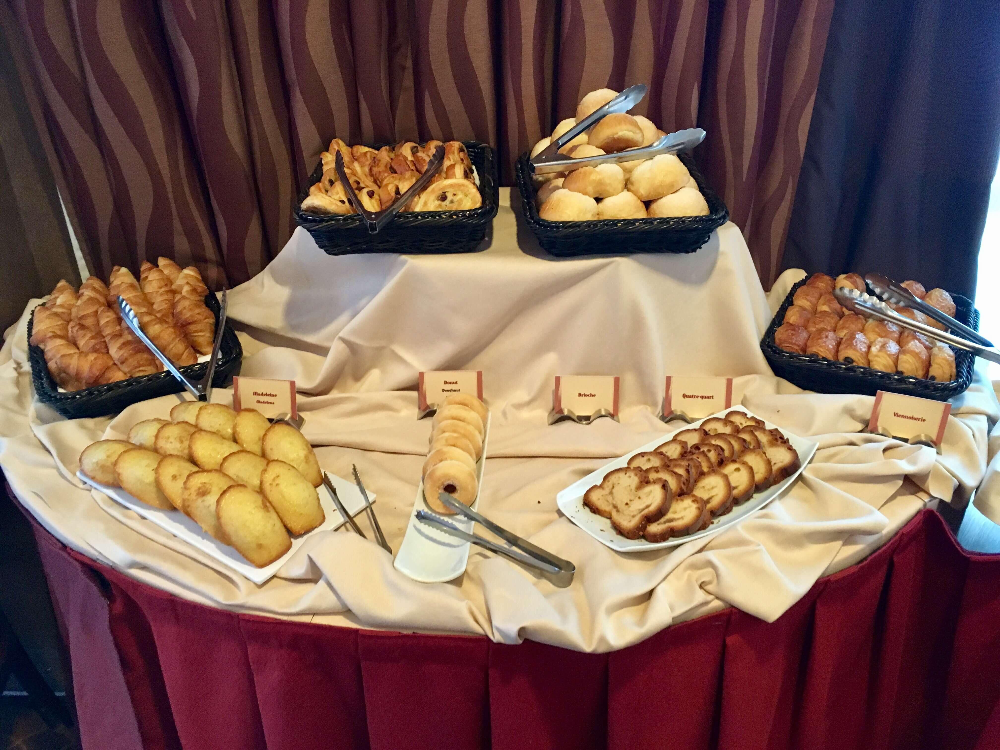 Kuchenauswahl Frühstück