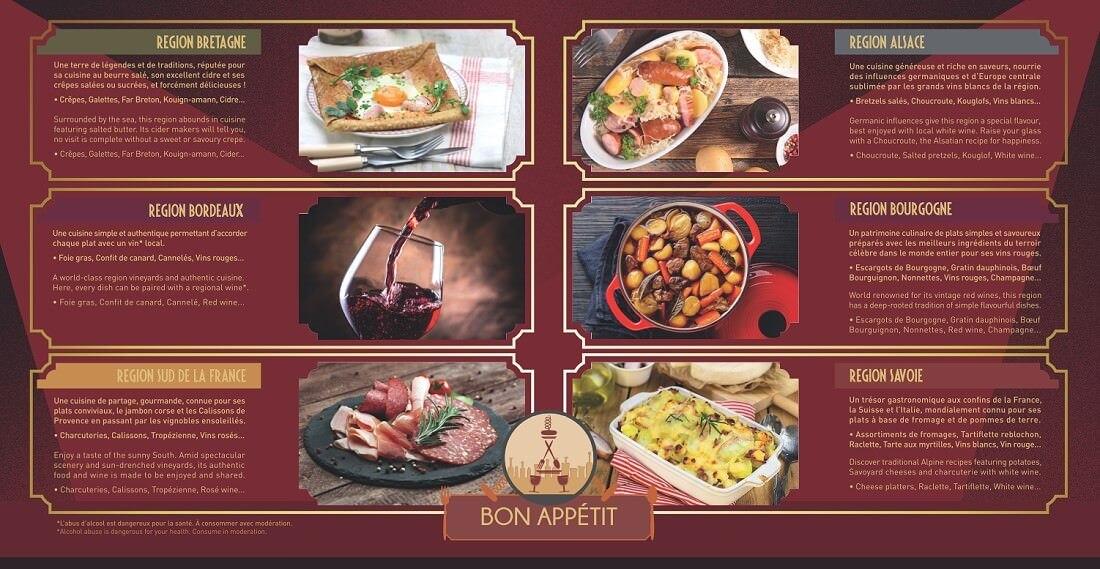 Übersicht über die präsentierten Küchen beim Rendez-vous Gourmande Festival