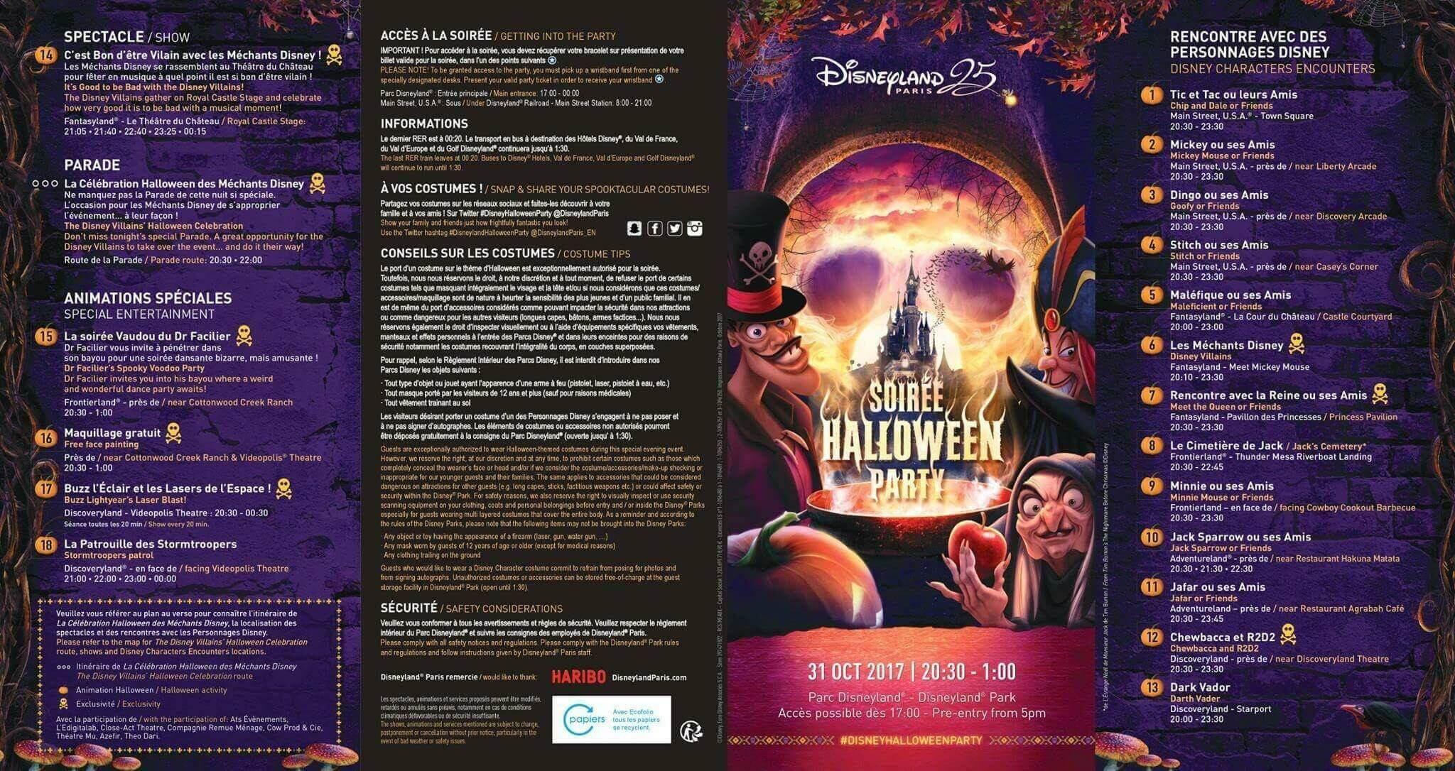 Vorderseite Halloween Programm