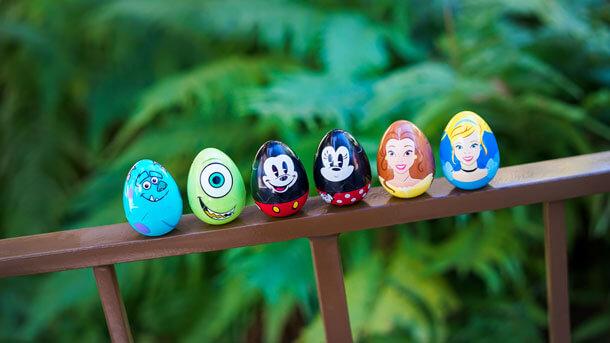 Eier mit Disney Charakteren