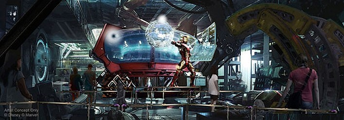 Marvel Theming für Disney Achterbahn
