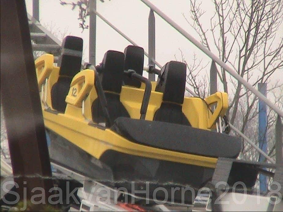 gelbes Fahrzeug