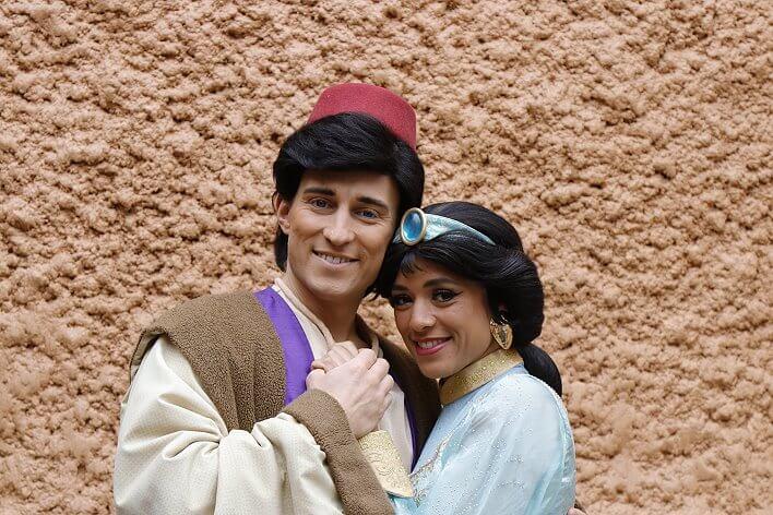 Aladdin und Prinzessin Jasmin im Disneyland