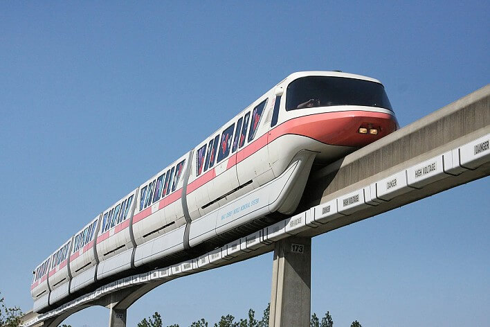 Rote Linie der Monorail in Disney World