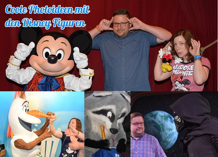 Kreative Ideen für Fotos mit den Disney Figuren