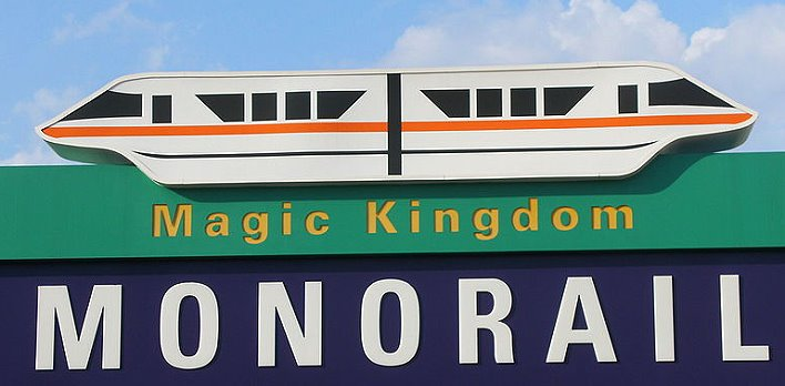 Monorail zum Magic Kingdom