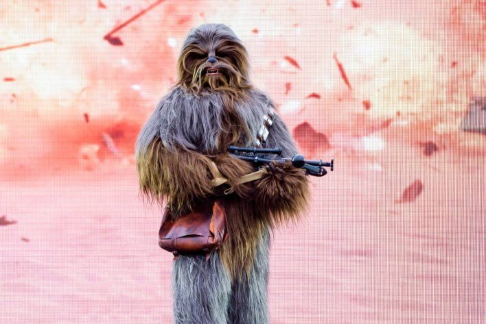 Triff Chewbacca im Disneyland
