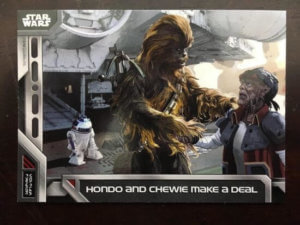 Star Wars Charaktere machen ein Geschäft