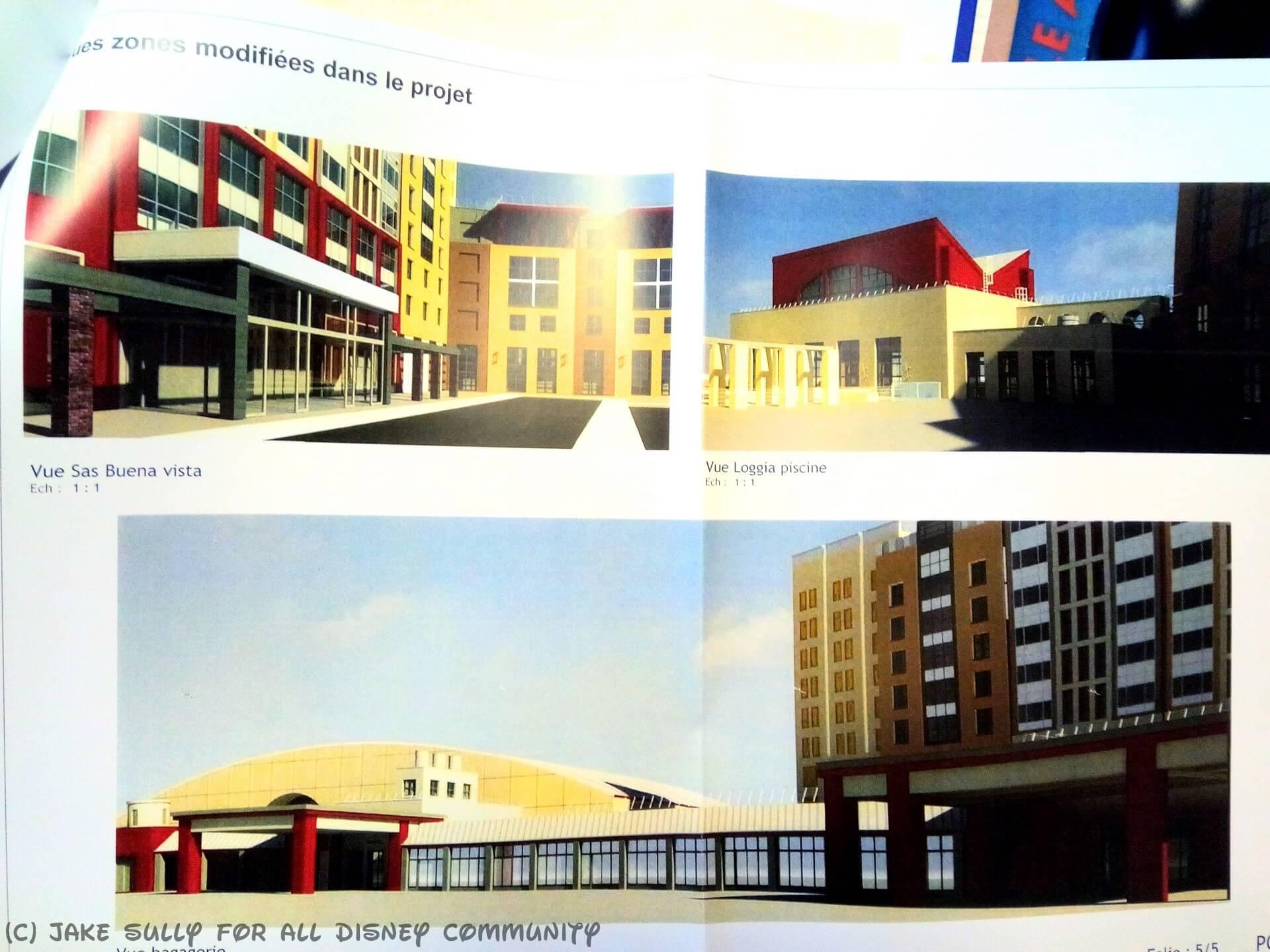 Concept Art der Seite des Haupteinganges mit Übergang zum Convention Center