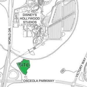 Landkarte mit Standort des Star Wars Hotel