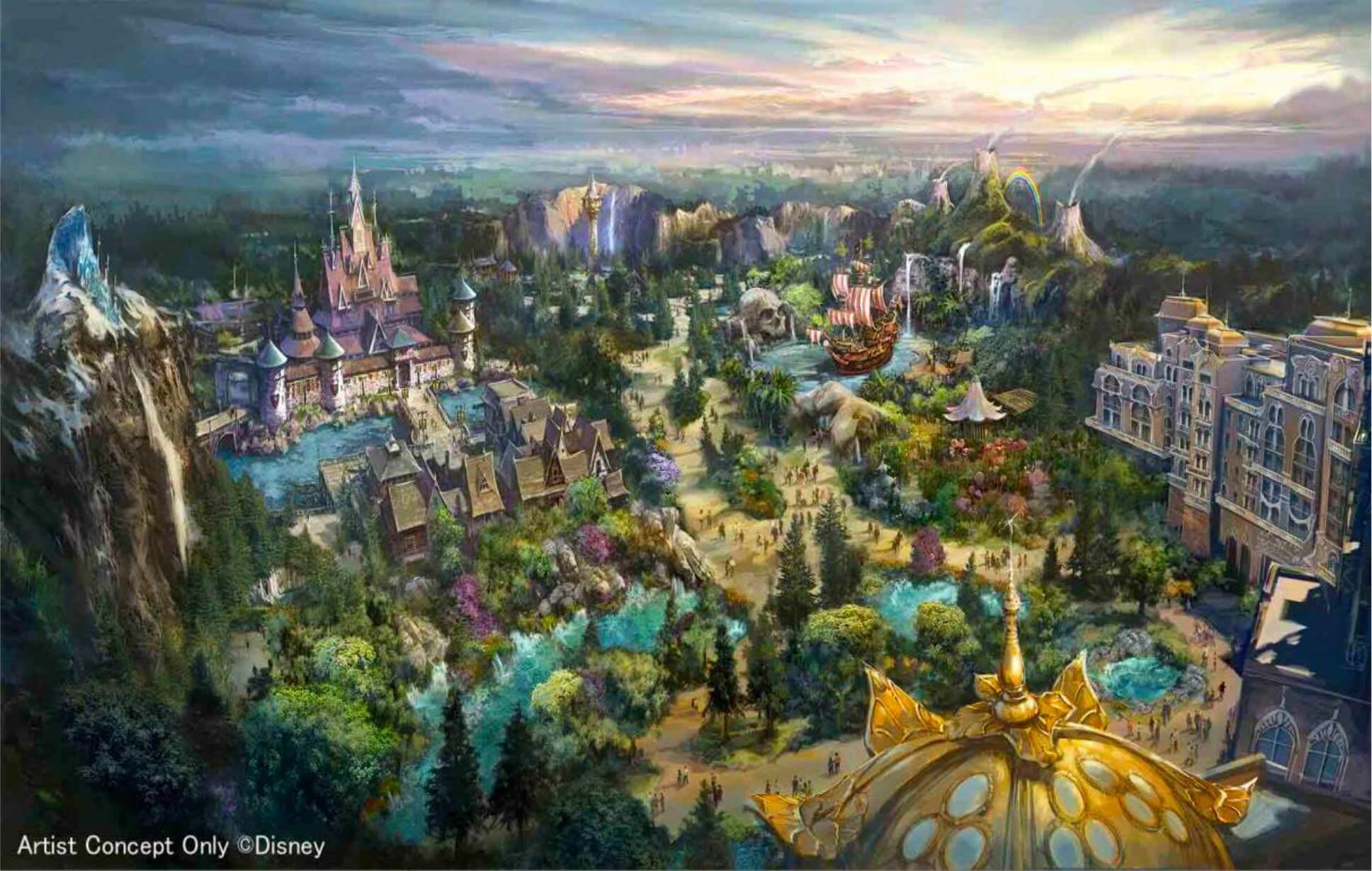 Überblick über die Erweiterung von Tokyo Disney Seas: Neuer Port mit Arendelle, Tangled, Peter Pan und neuem Hotel