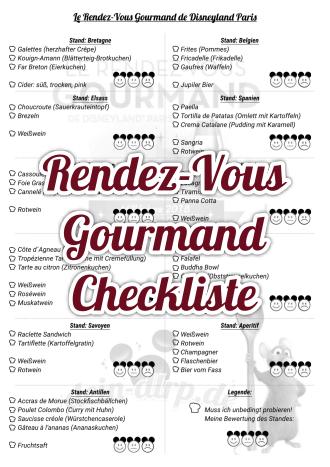 Checkliste zum Rendez-Vous-Gourmand Festival mit allen Ständen & Gerichten
