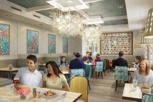 Dining Room mit Tischen und Stühlen