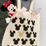Mickey Mouse-Einkaufstasche mit Kartoffeldruck