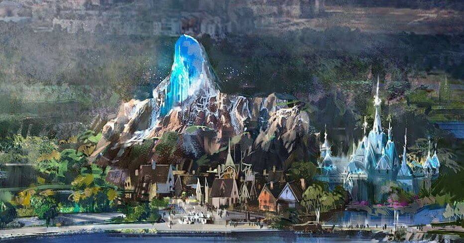Concept Art des Frozen Lands in den Walt Disney Studios