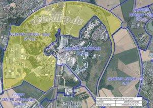 Masterplan für das Disneyland Paris mit verschiedenen Zonen