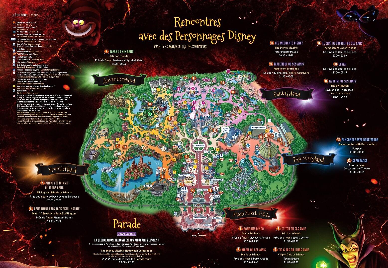 Plan der Meet & greets mit den Disney Villains