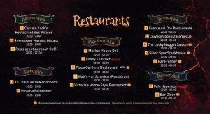 Geöffnete Restaurants an der Soiree Halloween 2018
