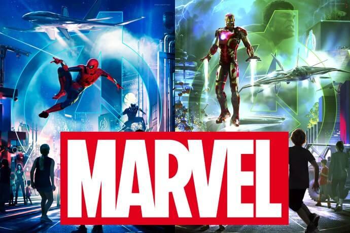 Marvel im Disneyland Anaheim und im Disneyland Paris
