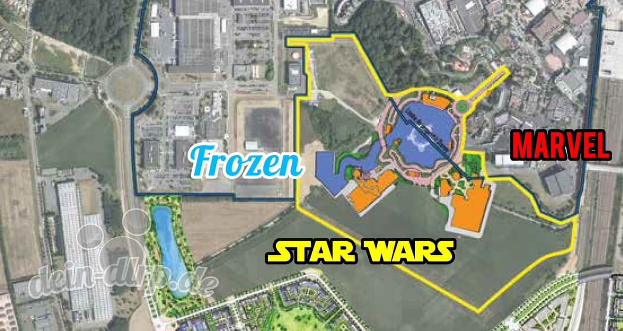 Erste konkrete Karten für die Erweiterung der Walt Disney Studios