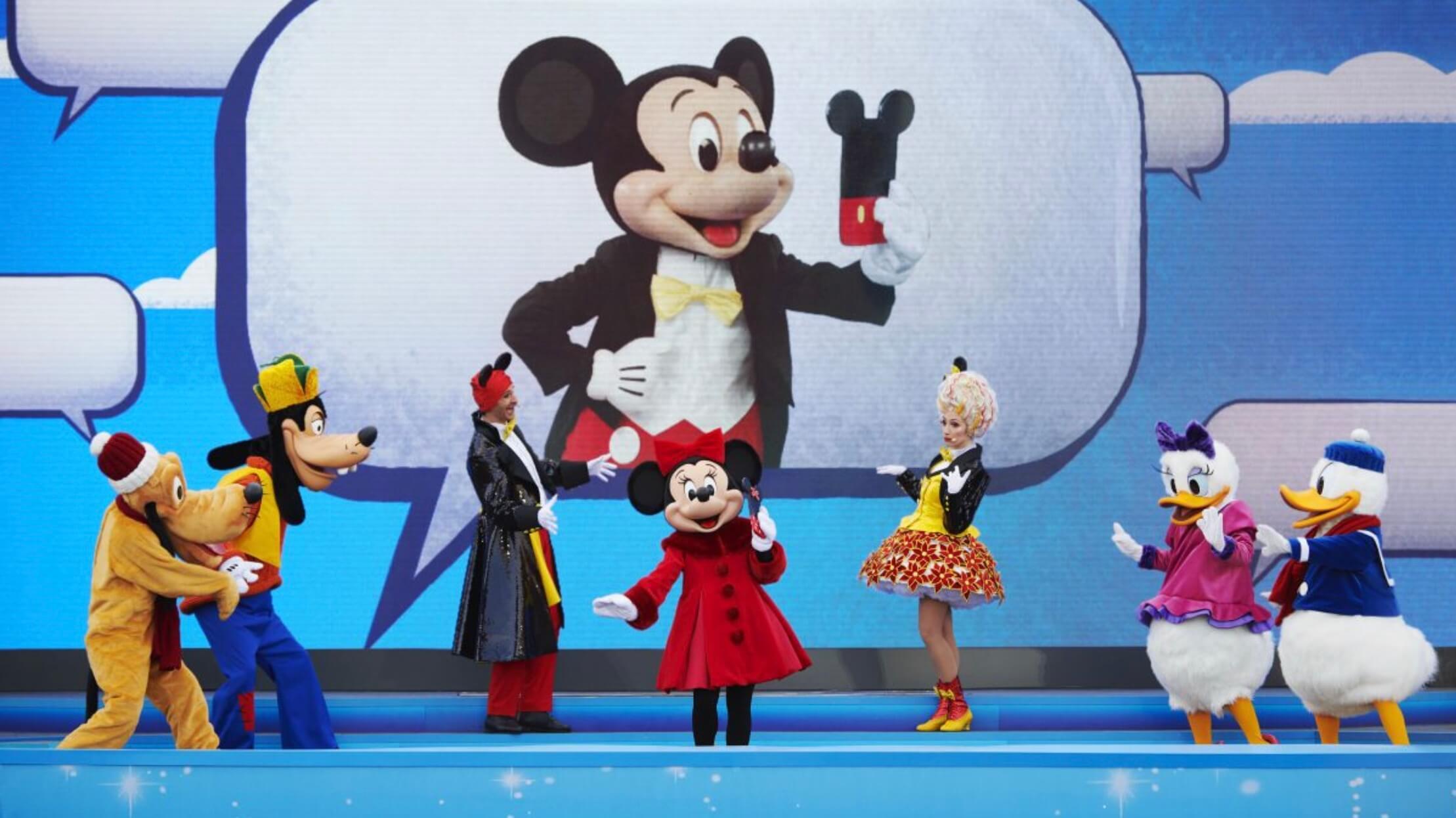 Minnie und co auf Bühne