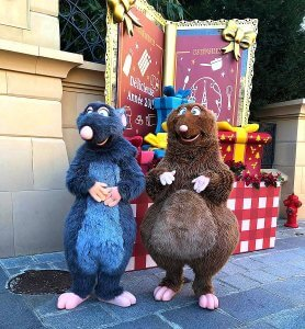 Emile & Remy aus Disney/Pixars Ratatouille in den Walt Disney Studios