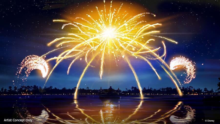 Feuerwerk am Lake