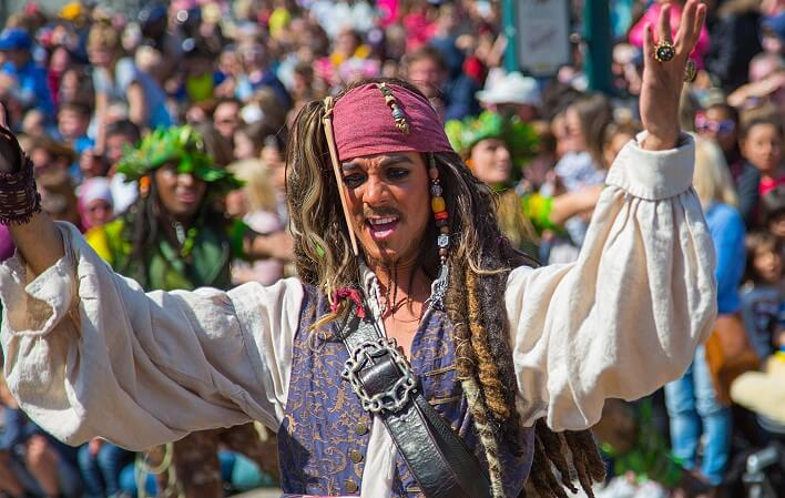 Captain Jack Sparrow im Disneyland Paris
