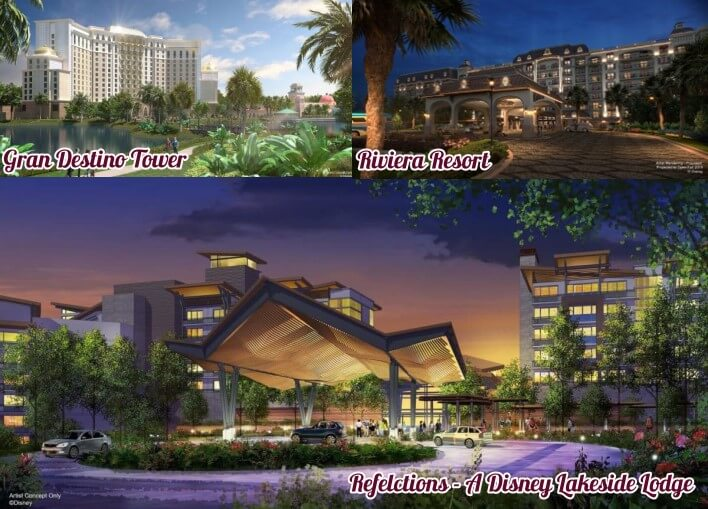 Walt Disney World: 3 neue Hotelprojekte