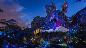 Ausblick auf den fliegenden Hügel im Pandora-Themenbereich