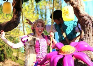 Rapunzel und Flynn Rider bei Disney's Magic on Parade