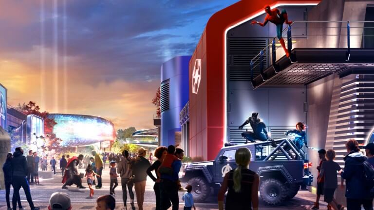 Concept Art zur WEB Worldwide Engineering Brigade Attraktion im Disneyland Paris