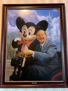 Bild mit Walt und Mickey Mouse