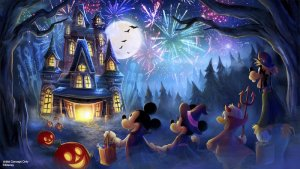 Neues Feuerwerk kommt in die Mickeys Not So Scary Halloween Party