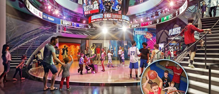 Für Basketball Fans: NBA-Experience in Disney Springs