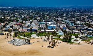 Blick auf Venice Beach