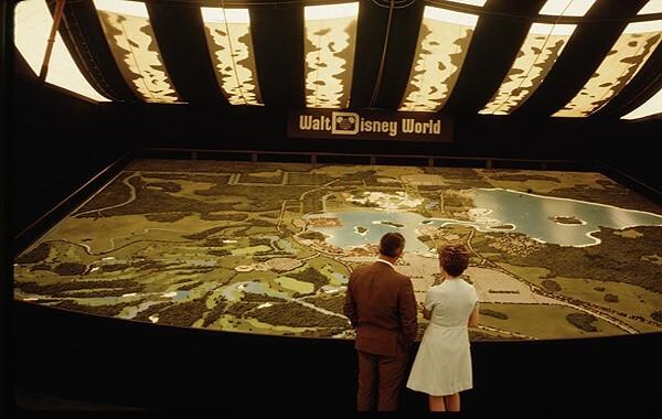 Das riesige Modell von Walt Disney World im Preview Center
