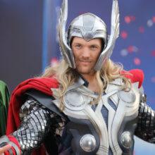 Portraitbild von Thor während der Marvelsaison